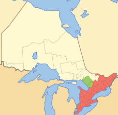 map of locations services in Ontario Canada