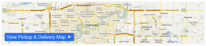 Clothing alterations Edmonton pickup Map